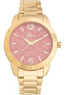 Kit Relógio Feminino Allora Analógico Al2036Fgt/K4 - Unissex-Dourado