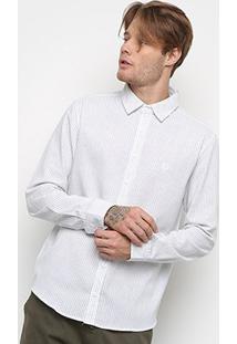 Camisa Manga Longa Cavalera Pablo Masculina - Masculino-Branco