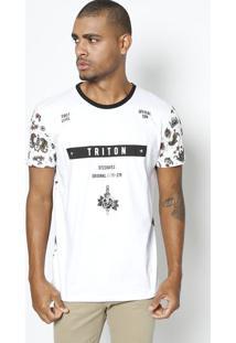 5eec1530a ... Camiseta ''First Level''- Branca & Preta- Tritontriton