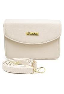 Bolsa Transversal Pequena Clutch Feminina Marfim