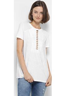 Camiseta My Favorite Thing(S) Recorte Feminina - Feminino-Branco