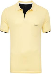 Polo Com Bolso Amarela Trend