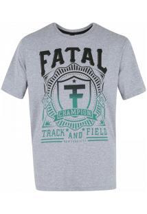 Camiseta Fatal Estampada 20284 - Masculina - Cinza