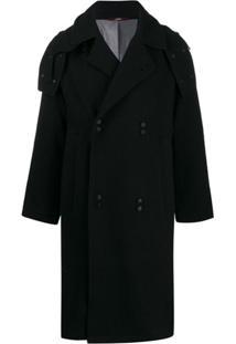 Indice Studio Trench Coat Com Abotoamento Duplo - Preto