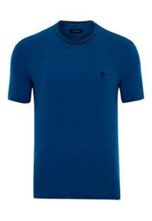 Camiseta Pierre Cardin Tweed Flame - Masculino-Azul
