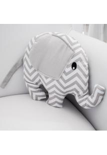 Enfeite Elefante Chevron Cinza - Cinza - Dafiti