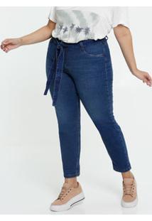 Calça Clochard Jeans Feminina Plus Size