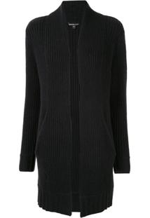 James Perse Cardigan Com Abertura Frontal - Preto