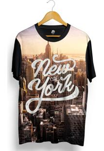 Camiseta Bsc New York Sunset Full Print - Masculino-Preto