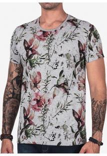 Camiseta Hermoso Compadre Mescla Estampada Masculina - Masculino