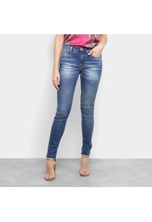 Calça Jeans Skinny Lança Perfume Com Faixa Lateral Feminina - Feminino