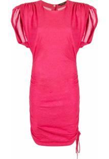 Isabel Marant Vestido Slim Com Fenda Na Mangas - Vermelho