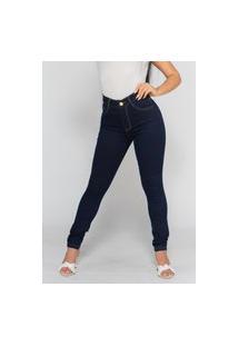 Calça Jeans Macaw Skinny Cintura Alta 1003 Azul