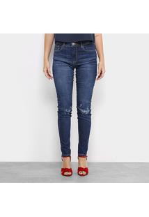 4efbe0e241 ... Calça Jeans Skinny Forum Marisa Estonada Rasgos Cintura Alta Feminina -  Feminino-Jeans