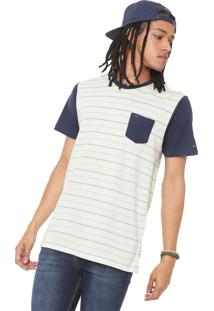 Camiseta Rvca Rundown Azul-Marinho/Off-White