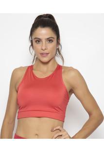 Top Nadador Com Recortes - Vermelhomorena Rosa