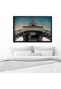 Quadro Love Decor Com Moldura Torre Eiffel Jour Preto Médio