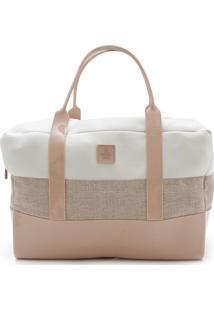 Bolsa Petite Jolie Recortes Rosa/Branca