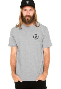 Camiseta Volcom Mini Circle Cinza