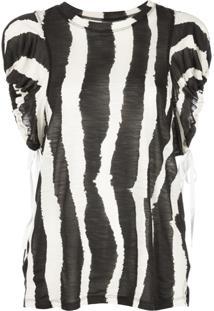 Proenza Schouler Blusa Animal Print - Preto