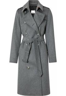 Burberry Trench Coat Com Abotoamento Duplo - Cinza