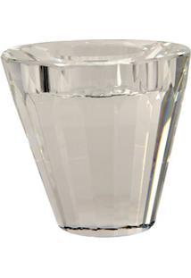 Castiçal De Cristal Vase Ii Para 1 Vela