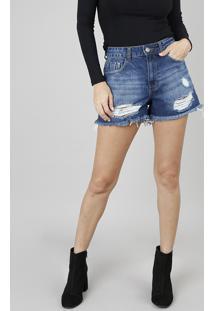 3f3305fc4 R$ 89,99. CEA Short Jeans Feminino Vintage Destroyed ...