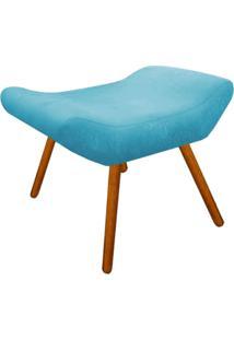 Puff Decorativo Aline Retangular Suede Azul Tiffany - D'Rossi
