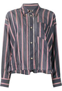 ... Isabel Marant Étoile Camisa Listrada Com Botões - Preto 0aa5491ae5b26