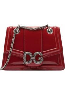 Dolce & Gabbana Bolsa Transversal Dg Amore Pequena - Vermelho