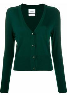 Barrie Cardigan Decote Em V De Cashmere - Verde