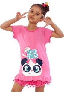 "Pijama ""Good Vibes""- Rosa Claro & Brancopuket"