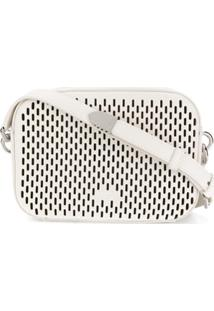 Furla Bolsa Tiracolo Com Detalhe Perfurado - Branco
