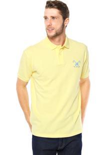Camisa Polo Polo Play Reta Logo Amarela