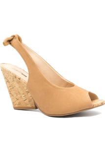 Sandália Zariff Shoes Anabela Laço Marrom