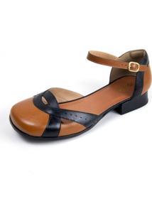 Sapato Feminino Miuzzi Whisky / Preto Ref: 3206 - Kanui