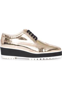 Oxford Metalizado Vinci Shoes - Dourado