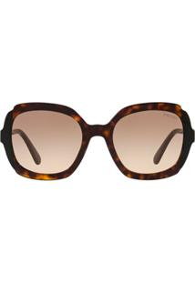 Prada Eyewear Óculos De Sol Quadrado - Marrom