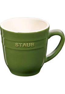 Caneca Cerâmica 350 Ml Verde Basil Staub