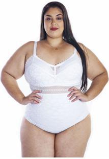Body Feminino Plus Size Com Bojo Linha Única Nayane Rodrigues .