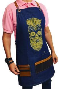 Avental Lucinoze Camisetas Barber Jeans Azul