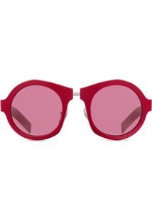 Prada Eyewear Óculos De Sol - Vermelho