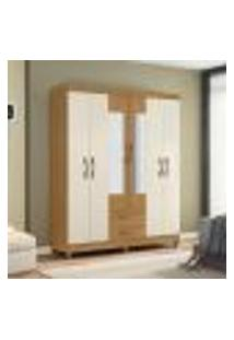 Guarda-Roupa Casal Ambar 6 Portas Com Espelho - Grife/Off White