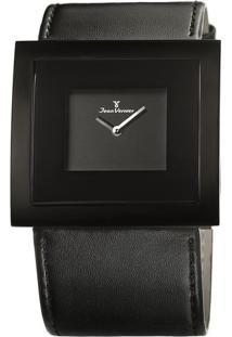 Relógio Analógico Jv02023- Preto- Jean Vernierjean Vernier
