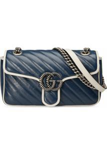Gucci Bolsa Tiracolo Gg Marmont - Azul