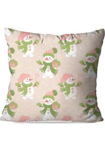 Capa De Almofada Love Decor Avulsa Decorativa Cute Snowman