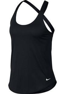 Camiseta Regata Nike Dry Tank Elastika Feminina - Feminino-Preto