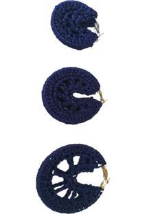 Brinco Croche Daniella Kolb Argola Azul - Kanui
