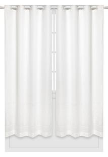 Cortina Santista 1,40X2,30M Basic Londres Vick Branca - Branco - Dafiti