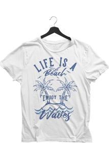 Camiseta Jay Jay Básica Life Is A Beach Branca Dtg